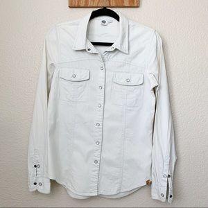 ROXY Snap Button Long Sleeve Shirt